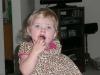 LiliBee and the chocolate.