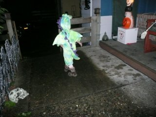 CareBear heads out into the night...