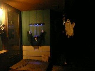 Porch decorations.