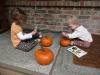 Decorating pumpkins!