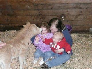 Mini horse kisses.