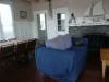 Inside the beach house.