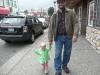 LiliBee and Chris take a walk.