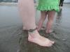LiliBee\'s tiny feet with Amy\'s giant ones.