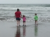 Amy, CareBear and Cousin H are chasing the waves!