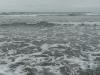 The ocean waves.