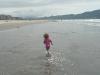 CareBear heads down the beach.