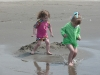 CareBear and Cousin H defend their castle by fighting off the waves.
