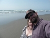 Chris and Amy on the beach.