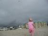 LiliBee\'s turn to fly the kite.