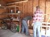 Chris and Grandpa working.